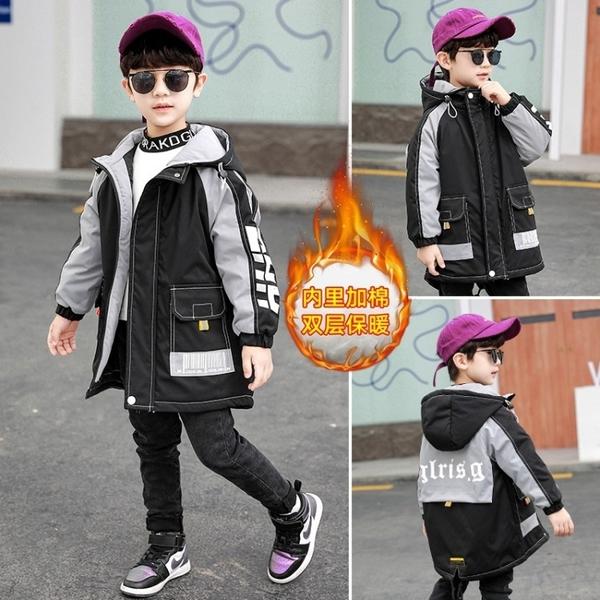 洋氣秋冬男寶寶棉衣 中大童韓版外套 工裝兒童加絨加厚夾克外套 7Plus羽絨外套男孩
