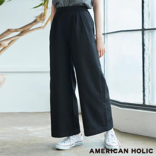 ❖ Summer ❖ 後鬆緊腰打摺寬褲 - AMERICAN HOLIC