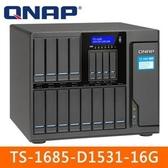 【綠蔭-免運】QNAP TS-1685-D1531-16G 網路儲存伺服器