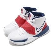 Nike 籃球鞋 Kyrie 6 PS USA 白 藍 紅 童鞋 中童鞋 美國隊 Irving 6代 KI6 運動鞋【PUMP306】 BQ5600-102