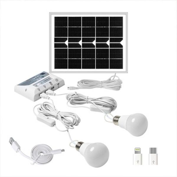 現貨太陽能燈小型發電戶外野營燈手機充電行動電源農村家用系統 奇妙商鋪