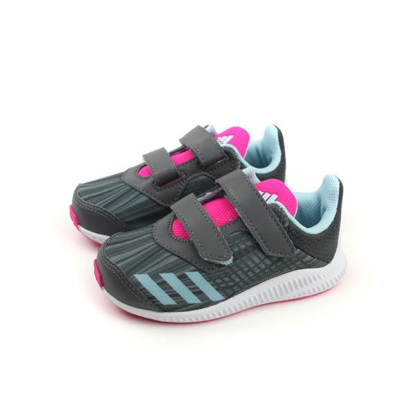 adidas FortaRun CF I 慢跑鞋 運動鞋 魔鬼氈 網布 透氣 童鞋 灰色 小童 BY8979 no449