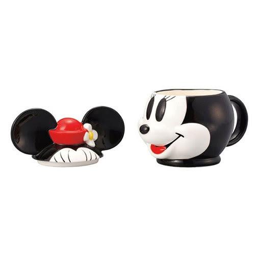 《sun-art》迪士尼人物大臉3D馬克杯附蓋(米妮)★funbox生活用品★_NR23217