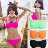 2兩件式泳衣性感海灘.素色款二件式泳裝.泡湯.螢光色彩.蝴蝶結比基尼哪裡買專賣店特賣會便宜