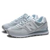NEW BALANCE 冰藍 粉藍 麂皮 休閒 運動鞋 女 (布魯克林) WL574OAA