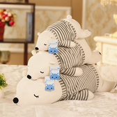 北極熊毛絨玩具公仔趴趴熊睡覺抱枕 cf