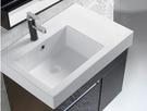 【麗室衛浴】精緻造型S1916檯上盆+鋼烤浴櫃 左平台C-193/右平台 C-193-1 660*450*H700mm含櫃體高度