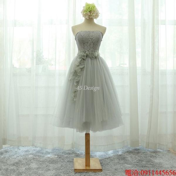 (45 Design)  7天到貨 禮服婚紗晚禮服短款晚宴年會 結婚小禮服短裙 大小顏色款式都能訂製14