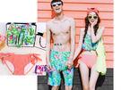 ★依芝鎂★A105情侶泳衣愛情逃跑二件式泳衣情侶泳衣游泳衣泳裝比基尼,單女生售價950元