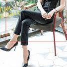 美之札[8S121-PF]細密直條紋OL修身西裝長褲~上班/面試