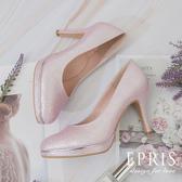 現貨 手工婚鞋 櫻花女神 甜美可人粉色婚鞋 高跟鞋推薦 好走不磨腳 21-26 EPRIS艾佩絲-甜美粉