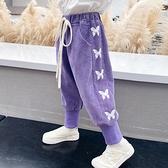 休閒褲女童燈芯絨褲子女寶寶洋氣外穿休閒褲小童韓版燈籠褲【全館免運】