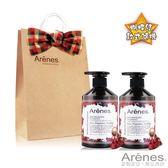 Arenes愛戀玫瑰聖誕禮袋(玫瑰石洗+玫瑰石沐+牛皮小提袋)