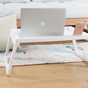 樂嫚妮 懶人桌/電腦桌/床上/多功能/折疊懶人桌-白