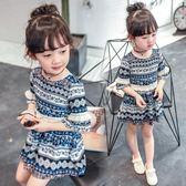 女童夏裝2018新款3童裝4女孩雪紡裙子5寶寶洋氣6歲兒童公主連身裙 桃園百貨