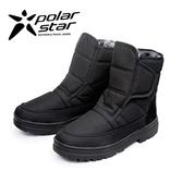 PolarStar 男 防潑水保暖雪鞋│雪靴│冰爪 P13622『黑』(內厚鋪毛)防滑鞋底.雪地靴.雪地必備