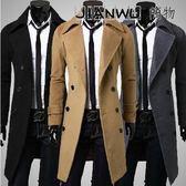 男士羊毛毛呢子大衣男中長款外套呢子大衣妮子風衣中青年大衣男