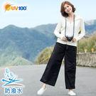UV100 防曬 抗UV-防潑水時尚寬褲-女