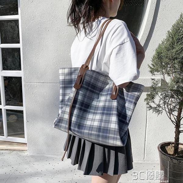上課通勤小眾帆布包文藝大容量大包包女2021新款潮夏季單肩托特包 3C優購