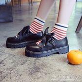 小皮鞋軟妹女鞋厚底日系瑪麗珍女單鞋可愛圓頭學生娃娃鞋『CR水晶鞋坊』