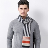 羊毛圍巾-秋季斜條紋加厚溫暖男女披肩3色73ph28【巴黎精品】