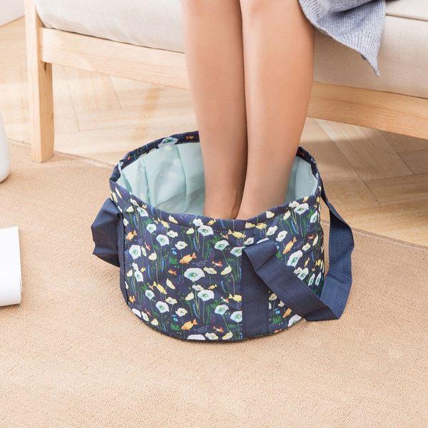 《WEEKEIGHT》時尚高質感防潑水可摺疊收納水桶袋/輕便泡腳袋(小/10L)