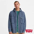 Levis 男款 牛仔連帽襯衫外套 / Oversize寬鬆版型 / 工裝系大口袋 / 寒麻纖維