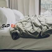 E家人 午睡毯 薄毛毯 被子 蓋毯 純色 空調毯 午休毯 沙發毯