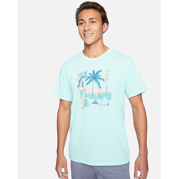 HURLEY|男DF HULA HIDEOUT SS T恤-藍