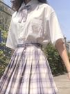 襯衫短袖女黑白色襯衣上衣夏季dk百搭學生學院風