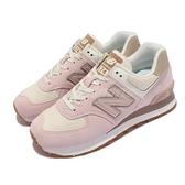 New Balance 復古休閒鞋 574 女鞋 粉 灰 軟木塞 基本款 運動鞋 NB【ACS】 WL574SP2-B