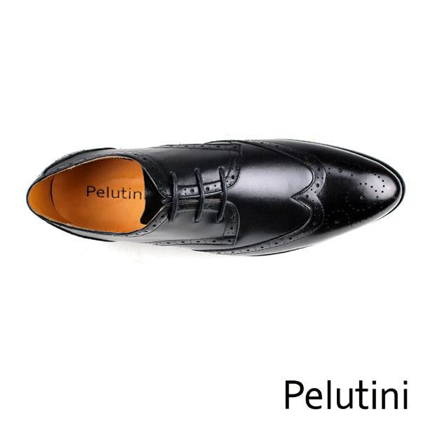 【Pelutini】翼紋雕花皮鞋 黑色(7910-BL)