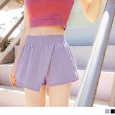 《KS0798》鬆緊腰不對稱口袋開衩短褲裙 OrangeBear