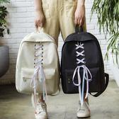 學生書包 書包女韓版原宿ulzzang初 高中學生背包學院風百搭簡約校園後背包 芭蕾朵朵