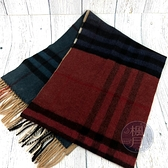 BRAND楓月 BURBERRY 紅綠藍三色 經典格紋 羊毛圍巾 冬季配件 100%喀什米爾羊毛