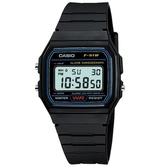 【CASIO】 經典運動電子腕錶-黑(F-91W-1)