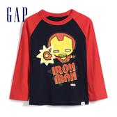 Gap 男幼童 Gap x Marvel 漫威系列鋼鐵人圓領長袖T恤 528216-靛藍色