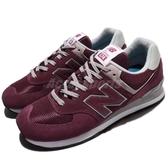 New Balance 復古慢跑鞋 574 NB 紅 灰 麂皮 經典三原色 運動鞋 男鞋 女鞋【ACS】 ML574EGBD