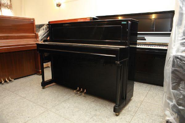 【HLIN漢麟樂器】-日本原裝kawai河合123號直立式中古二手鋼琴-原木-亮黑-豪華38