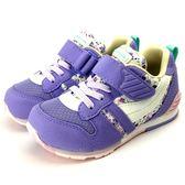 《7+1童鞋》日本月星 MOONSTAR 魔鬼氈  透氣  機能  運動鞋  C438  紫色
