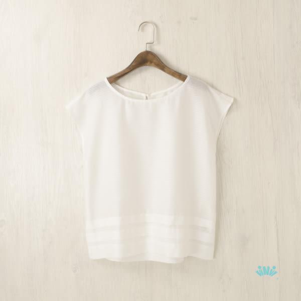 viNvi Lady 小格紋短袖雪紡上衣 短袖T恤