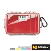 美國 PELICAN 派力肯 塘鵝 1050 Micro Case 派力肯 塘鵝 微型防水氣密箱 透明 紅色 公司貨