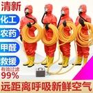 電動送風長管呼吸器自吸式送風式空氣呼吸器單人雙人四人防毒面罩【快速出貨】