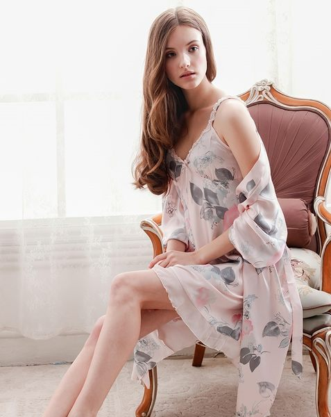夏季新品睡衣女甜美家居服夏天薄款套裝 -swe0032