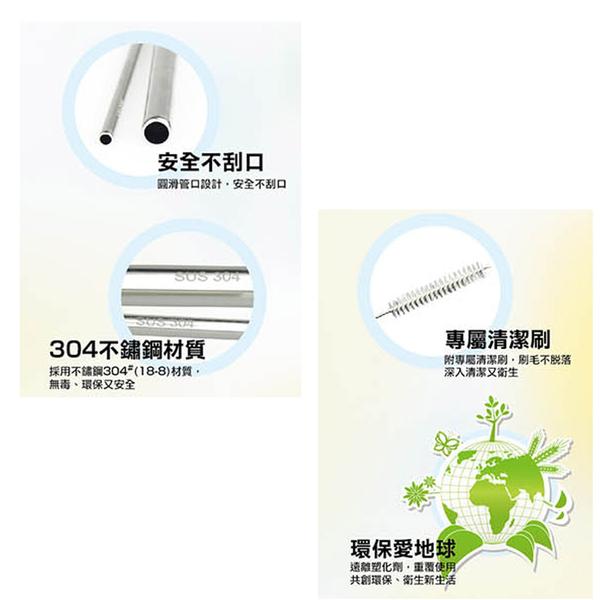 丹露 304不鏽鋼吸管組(6入) S304-0612