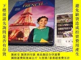 二手書博民逛書店英文原版英文教材罕見discovering French 1 發