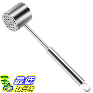 [8美國直購] 嫩肉器 Heavy Duty Meat Hammer Dishwasher Safe Rust-proof 304 Stainless Steel Meat Pounder