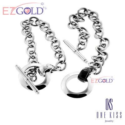 ONE KISS ♥魅力無限♥ 鋼飾手鍊(一對)