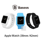 【妃凡】BASEUS 倍思 Apple Watch 1/ 2/ 3 38mm /  42mm 時尚運動錶帶-藍, 白 (K)