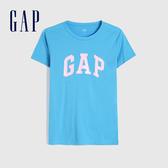Gap 女裝 Logo棉質舒適圓領短袖T恤 268820-藍色
